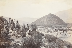 [Afridi tribesmen, probably near Fort Jamrud, North-West Frontier Province.]